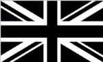 Great Britain Black Large Country Flag - 5' x 3'.